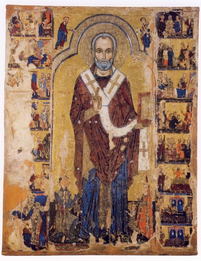 Ornamento a rilievo dorato delle icone cipriote, e la presenza ...